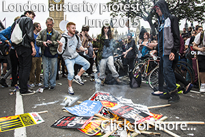 London austerity protest photos June 2015