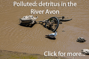 River Avon pollution-photos of junk abandoned in the river